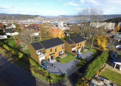 To eneboliger i Solsvingen, Drammen kommune