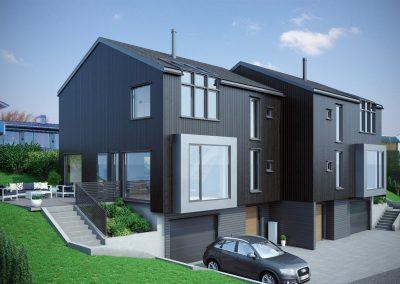 Tomannsbolig/vertikaldelt bolig, Austråttbakken, Sandnes kommune