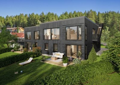 Vertikaldelt bolig, Monrad Johansensvei, Nordre Follo